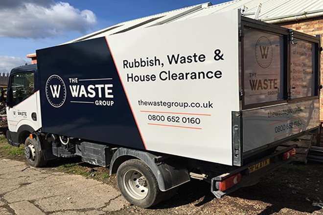A man with a van rubbish clearance service