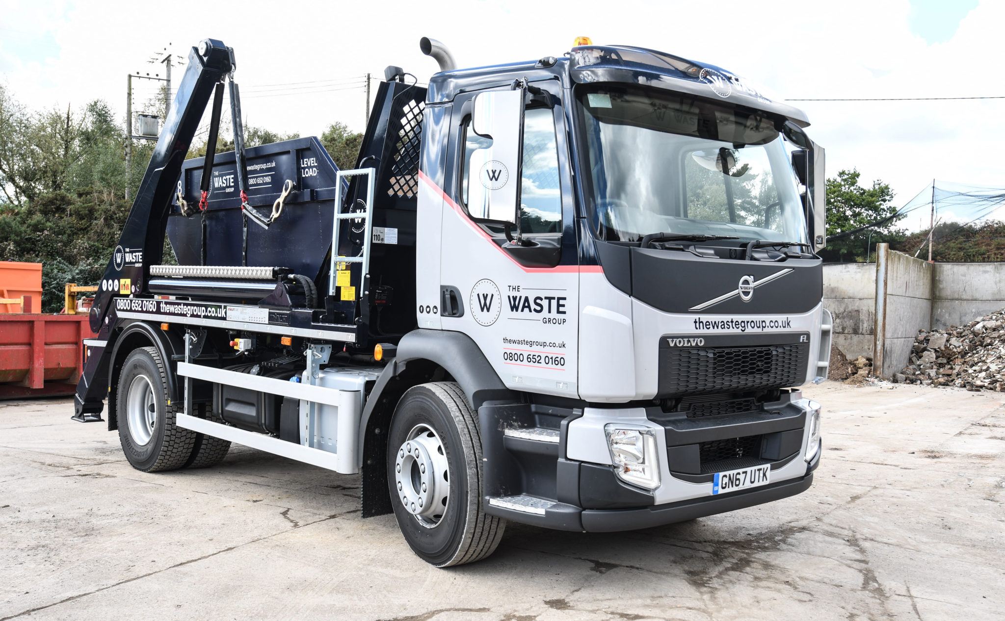Skip Hire Lorry The Waste Group