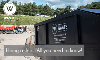 What Can Go In A Skip title graphic for The Waste Group, Skip Hire In Dorset